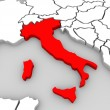 Italy 3d Abstract Map Central Europe Nation - Stock Photo