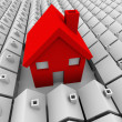 One Big House Many Small Houses Biggest Choice — Stock Photo