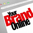 Your Brand Online Words Website Screen Internet — Stock Photo