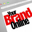 Stock Photo: Your Brand Online Words Website Screen Internet