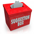 Suggestion Box Ideas Submission Comments — Stock Photo #23375360