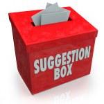 Comentários de submissão sugestão caixa idéias — Foto Stock