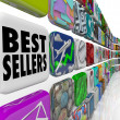 Best Sellers App Ranking List Wall Applications - Stock Photo