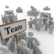 Foto de Stock  : Team Groups Signs Teamwork