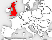 United Kingdom England Map Northern Europe Great Britain — Stock Photo