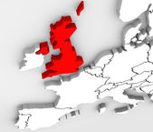 England 3D Abstract Map Europe Great Britain — Stock Photo