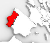 Portugal Country Map Abstract 3D Europe Atlas — Stock Photo