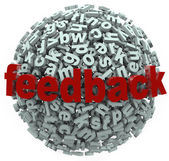 Feedback 3D Sphere Letters Input Comments — Stock Photo