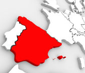 Spain Abstract 3D Map Country Nation in Europe — Stock Photo