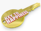 Gold Key to Happiness Golden Secret of Success — Stock Photo