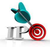 Ipo Initial Public Offering Arrow Target Stock Market — Stock Photo