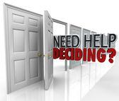 Need Help Deciding Many Doors Words Choices — Stock Photo