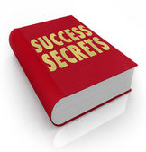 Success Secrets Book Instructions Manual Advice — 图库照片