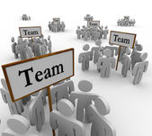 Team Groups Signs Teamwork — Stockfoto