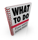 What to Do Book Manual Advice Instructions — Stock Photo