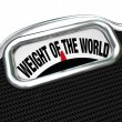 Stock Photo: Weight of World Scale Words Burden Trouble