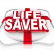 Life Saver Preserver Help in Moment of Crisis or Danger - Stock Photo