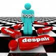 One Person Has Hope While Others Despair — Stock Photo