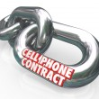 Cell Phone Contract Agreement Commitment Legally Bound — Stock Photo #25224751