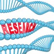 Research Word DNA Strand Medical Laboratory Study — ストック写真