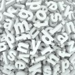 Stock Photo: Letter Jumble Background Alphabet Words Spilled Mess