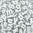 Letter Jumble Background Alphabet Words Spilled Mess - Foto Stock