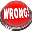 Wrong Red Button Light Flashing Incorrect Answer — Stock Photo #25224827