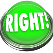 Right Green Button Light Flashing Correct Answer - Stockfoto