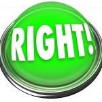 Right Green Button Light Flashing Correct Answer — Stock Photo