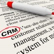 CRM Customer Relationship Management Dictionary Definition - Stock Photo