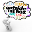 Outside Box Thinking Person Creativity Innovation — Stock Photo #25225375