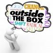 Outside the Box Thinking Person Creativity Innovation — Stock Photo