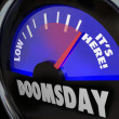 Doomsday Clock Gauge It's Here End of Days Time — Stock Photo