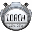 Royalty-Free Stock Photo: Coach Stopwatch Timer Train Skills for Achieving Success
