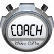 Coach Stopwatch Timer Train Skills for Achieving Success — Stock Photo