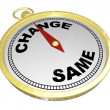 Stockfoto: Change Vs Same Gold Compass Changing Innovation