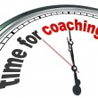 Time for Coaching Clock Mentor Role Model Learning - Stock Photo