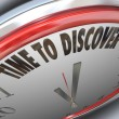 Stock Photo: Time to Discover Words on Clock Scientific Research