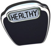 Healthy Word Scale Wellness Health Care Lose Weight — Stock Photo