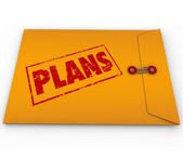 Plans Secret Confidential Envelope Covert Operations — Stock Photo