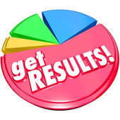 Get Results Pie Chart Achieve Increase Growth — Stockfoto