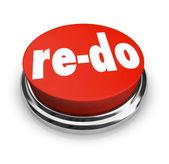 Ponownie zrobić czerwony przycisk ponów zmiany zmiany poprawy — Zdjęcie stockowe