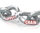 Supply Chain Broken Links Severed Relationships — Stock Photo