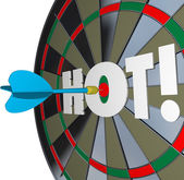 Hot Dart Popular Great Performance Dartboard — Stock Photo