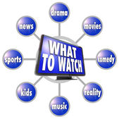 What to Watch HDTV Program Suggestions Ideas Guide — Stock Photo