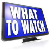 What to Watch HDTV Television Screen Suggestion Guide — Stock Photo