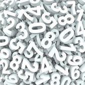 Number Background 3D Numbers in Disarray — Stock Photo