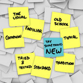 Prova något nytt ändra normala vanliga rutin skaka — Stockfoto