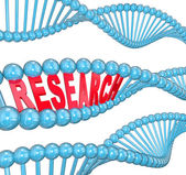 Research Word DNA Strand Medical Laboratory Study — Stock Photo