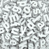 Letter Jumble Background Alphabet Words Spilled Mess — Stock Photo